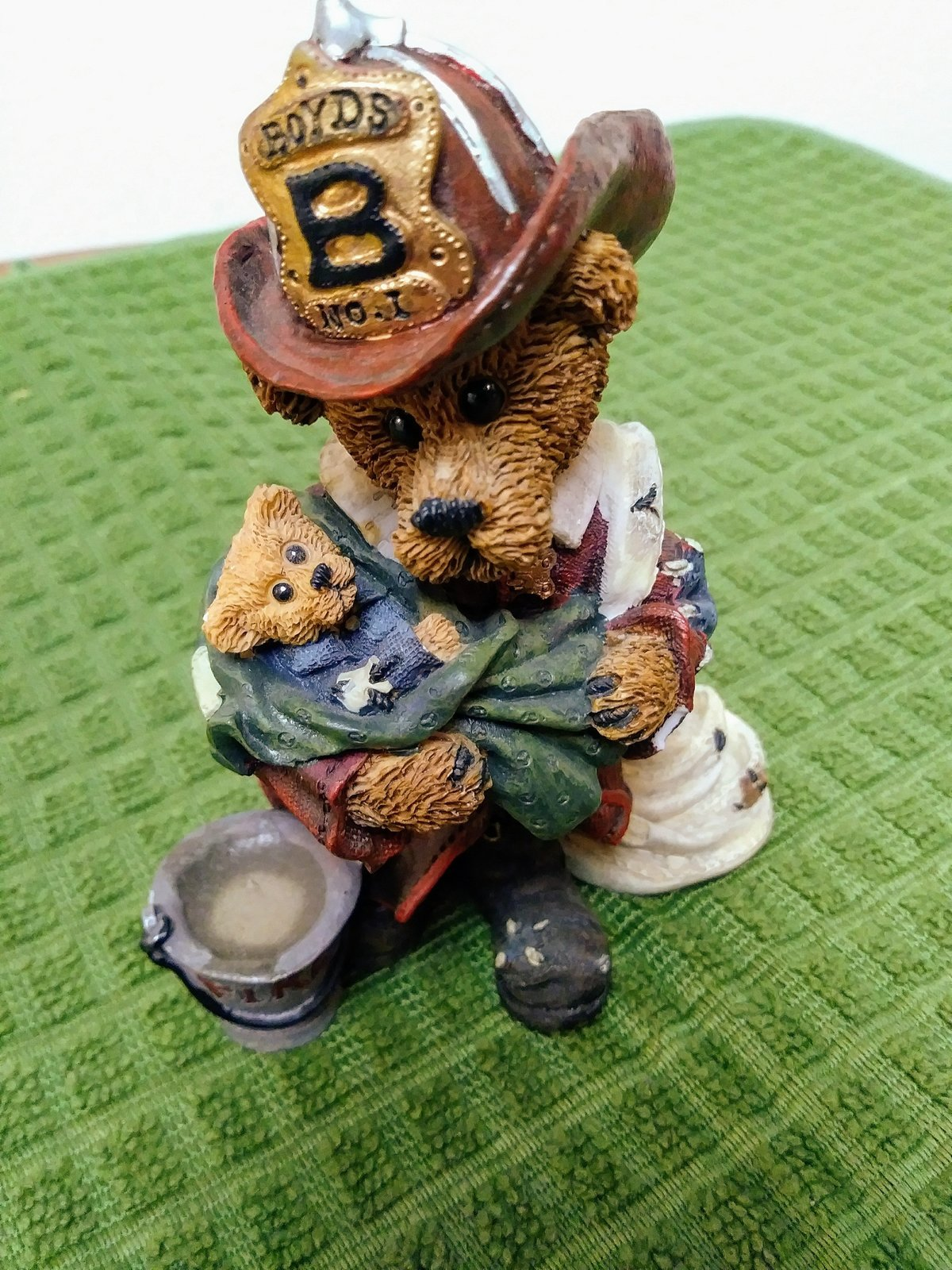 Boyds Bears Bearstone Collection #2280 Elliot... the Hero Fireman