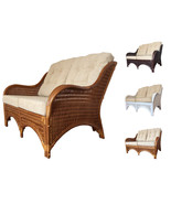 Rattan Wicker Lounge Loveseat Karmen With Cushions - $349.99