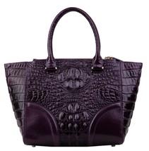 Crocodile Embossed Italian Leather Croc Satchel Crossbody Shoulder Bag 2315 - $209.95