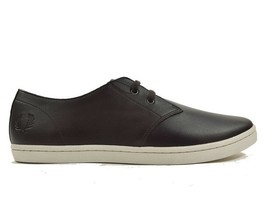 Fred Perry Byron Low Tumbled Leather Men's Trainers Shoes B1133-325 Dark... - $84.23