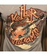 Keller Williams Band SS Shirt Guitar Light Blue Small Unisex Folk Bluegrass - $19.34