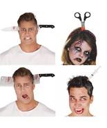Bloody Knife Head Through Halloween Fancy Dress Accessory Joke Cosplay C... - $5.89+