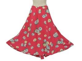 VTG RALPH LAUREN Pink Floral Full Sweeping Seamed Skirt Sz 4 or larger M-L - $50.00