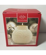 Lenox Holiday Candle Holder Ornamental Glow Holly Scrollwork Votive Teal... - $8.80
