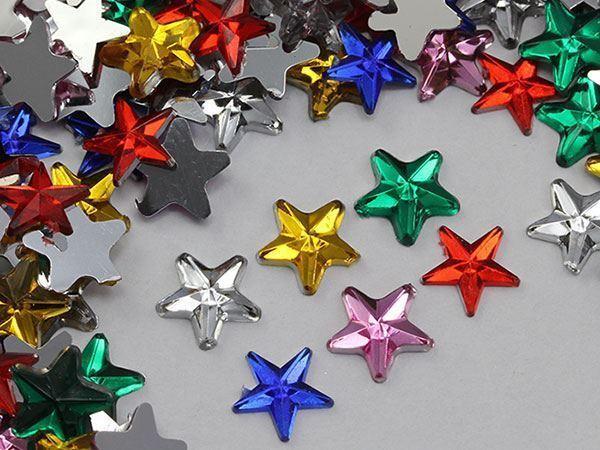 5mm Purple Amethyst H105 Flat Back Acrylic Star Gems High Quality - 125 PCS