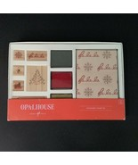 Opalhouse Stationary Stamp Holiday Card Set Christmas Ink Pads Wooden St... - $10.87