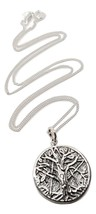 Tree of Life Pendant 925 Sterling Silver & silver Chain Pagan Wicca Gift... - $56.09