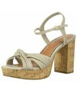 Rampage Womens Marcia Fabric Open Toe Ankle Strap Linen Sandals SZ 8.5 - $15.99