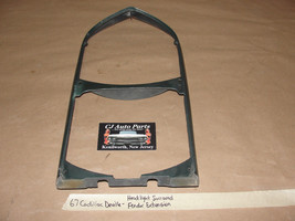 67 1967 Cadillac Deville LEFT OR RIGHT HEADLIGHT FENDER EXTENSION BEZEL ... - $59.99