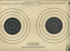 4 National Rifle Association NRA 50 Yard Small Bore Rifle Targets A-10 - $15.84