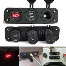 Car Cigarette Lighter Socket Splitter USB Charger Adapter+Voltage Meter ... - $13.01