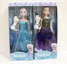 Hot 2pcs 30CM Frozen Elsa&Anna princess Doll Playset Figures Present Gif... - $18.99