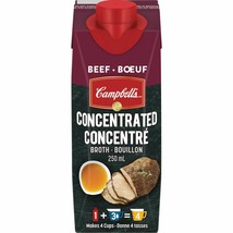 3PACK CAMPBELL'S Concentrated Beef Broth 250ML CANADA ALWAYS FRESH  - $18.56
