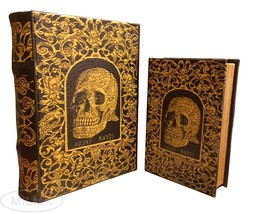 Celtic Skull Book Box Set of 2 Handmade Decorative Book Nestling Books - $45.53