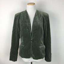 Giorgio Armani Women's Green Crushed Velvet Single Button Blazer Size 6 - $64.34