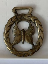 Antique Butterfly Horse Brass Cottagecore from UK - $33.94
