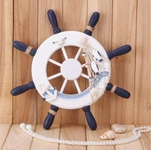 "Nautical Wooden Ship Steering Wheel Home Decor/ Wall Art 13""Diameter - $30.82"