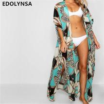 2019 Long Print Beach Cover up Pareos de Playa Mujer Beach Wear Plus size Bikini - $23.95