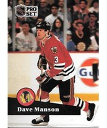Dave Manson ~ 1991-92 Pro Set #41 ~ Blackhawks - $0.05