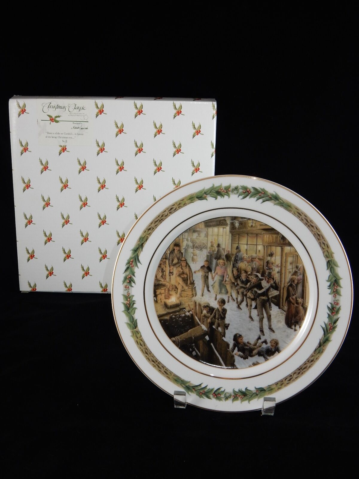 Department 56 Christmas Classic Collector Plate ~ No. II Down a Slide ... - $28.49