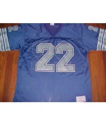 Emmitt Smith 22 Dallas Cowboys NFL NFC Apex One Blue Silver Football Jer... - $49.49