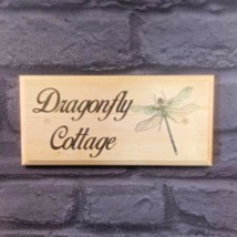 Personalised Dragonfly House Name Sign, Garden Shed Plaque Cottage Home ... - $12.35