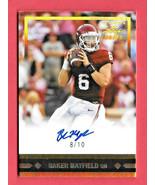 2018 Baker Mayfield Leaf Ultimate Draft Gold Leaf Rookie Auto 8/10 - Browns - $237.49