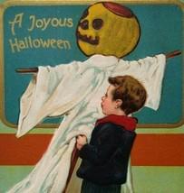 Vintage Halloween Postcard Paul Finkenrath Series 778 Boy Goblin Unused Original - $117.56