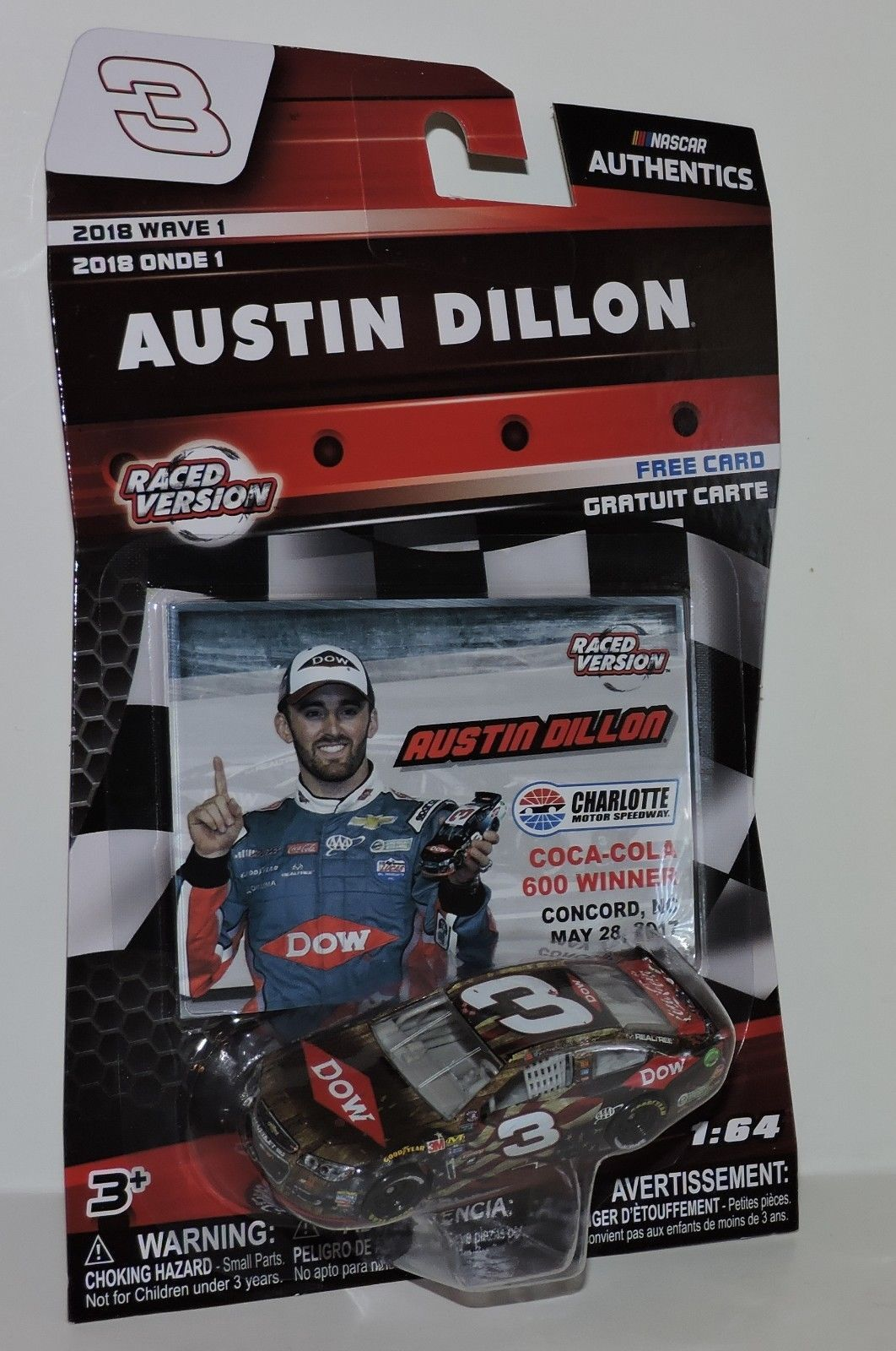 Austin Dillon 2017 ACTION 1:64 #3 Dow Coca Cola 600 Win Chevy SS Nascar Diecast