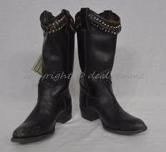 NIB Frye Diana Studded Boots Mid-Calf Women's Size 7.5 M in Distressed Black - $299.00