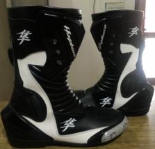 Suzuki Hayabusa Motorbike leather boots CE Approved - $140.00