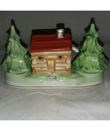 Japan Condiment Set Cabin Christmas Trees Salt and Pepper Shakers 1950s ... - $39.99