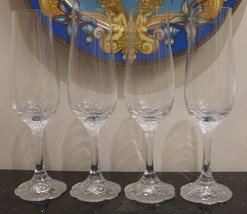 4 Vintage Rosenthal Germany Classic Rose Monbijou Fluted Champagne Glasses - $125.00