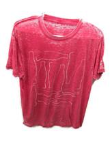 Coca-Cola Burn-out Red T-shirt Tee Multi Contour Bottles 2X-Large XL - B... - $26.48