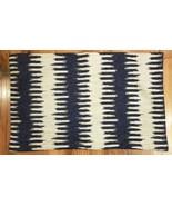 WILLIAMS SONOMA Pillow Cover Lumbar BLUE CHEVRON IKAT JACQUARD 14x22 NWO... - $24.00