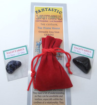 SAGITTARIUS - Bookmark & Birthstones - plus a Red Velvet pouch and my bo... - £3.02 GBP