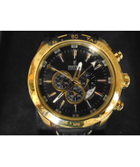 Festina Black Dial Chronograph Gold Plated Stainless Steel Men`s Watch - $367.00