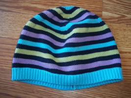 Baby Gap Striped Knit Sweater Hat Size Medium Large - $5.93
