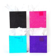 """12W x 12H x 6G Square Large """"Glowing"""" Glitter Glossy Bags, 4 Colors, Cas... - $230.00"""