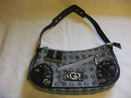 Gamaya Nylon Gray Black Purse Handbag With Adjustable Strap - $34.65