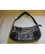 Gamaya Nylon Gray Black Purse Handbag With Adjustable Strap - $34.65
