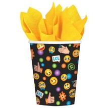 LOL Emoji 8 9 oz Hot Cold Paper Cups Birthday Party - £2.88 GBP