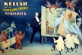 Kellar and his perplexing cabinet mysteries by Strobridge Litho. - Art Print - $19.99+