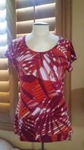 Sz M Worthington Women's Stretch Short Sleeved Blouse gently used nice c... - $16.78