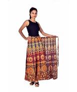 Bohemian Mandala Tapestry Long Skirt Cotton Block Print Evening Party Sk... - $17.80