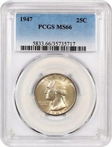 1947 25c PCGS MS66 - Washington Quarter - $82.45