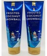 2 Bath & Body Works Frosted Coconut Snowball Body Cream Ultra Shea 24 HR... - $22.76