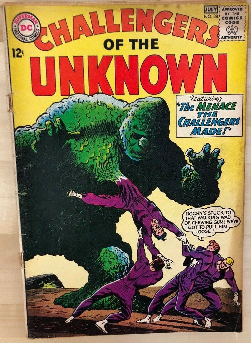 Primary image for CHALLENGERS OF THE UNKNOWN #38 (1964) DC Comics VG+