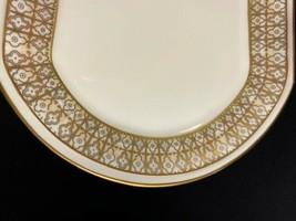 "Retired Mikasa Lacerna 9 1/8"" Butter Tray Bone China-Gold Silver Green G... - $14.80"
