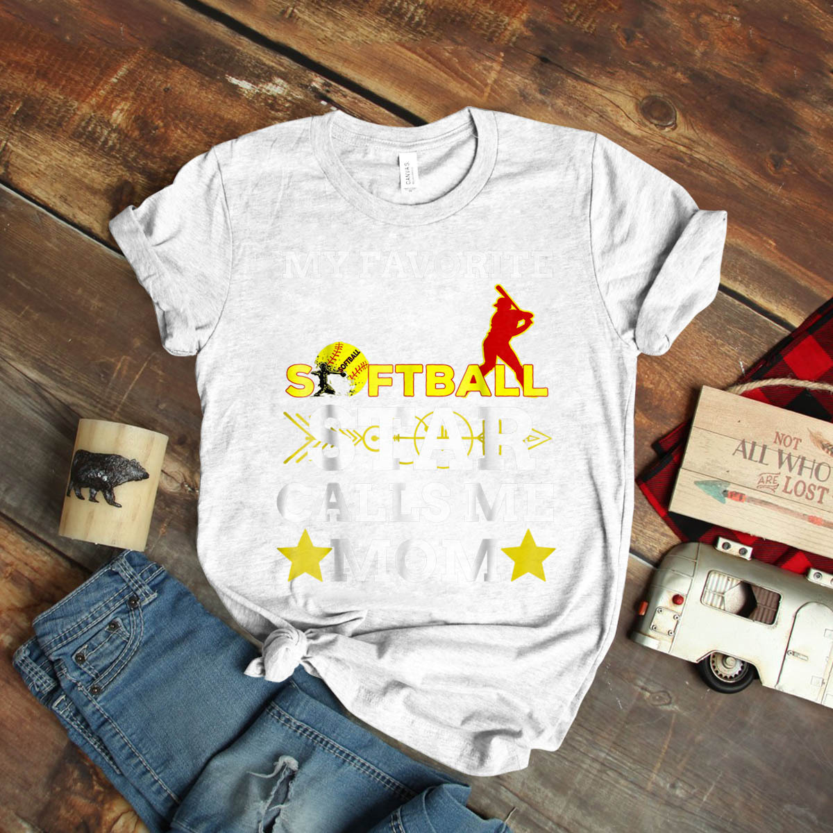 Softball Star Calls Me Mom Mother'S Day Ideas Birthday Gift Vintage Funny